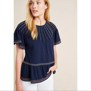 ✨New! MAEVE by ANTHROPOLOGIE Embroidered Swing Top
